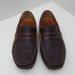Mephisto brown leather cool air loafer size 8